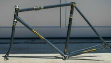 RARE 1999 3Rensho NJS Stamped 52 cm Black Sparkle Track Bicycle Frameset
