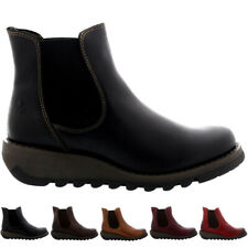 Ladies Fly London Salv Rug Pull On Wedge Heel Shoes Casual Ankle Boots All Sizes