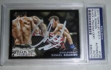 Chael Sonnen Signed UFC 2011 Topps Moment of Truth Black Card #126 PSA/DNA 42/88