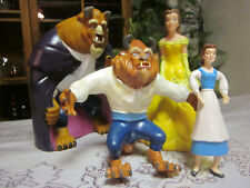 Vintage Lot Disney Beauty and the Beast Hand Puppets & Figurines