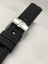 OMEGA SEAMASTER 300 20MM RUBBER WATCH STRAP CO-AXIAL 42MM BLACK MENS WRIST BAND