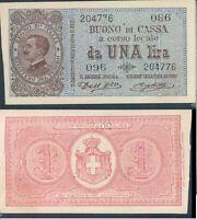 """1 LIRA """" VITTORIO EMANUELE III """" DEC.21 SETTEMBRE 1914@ FIOR DI STAMPA"""