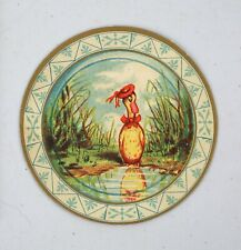 Original Victorian Trade Card Jaques Extracts Mifflin Madison Round Disc Duck