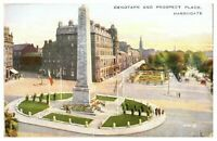 Antique printed postcard Cenotaph And Prospect Place Harrogate