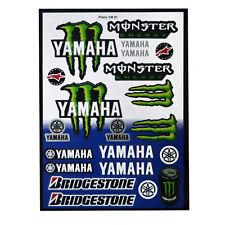 Kit 19 Pegatinas Vinilo Moto Motocicleta Yamaha Monster Energy para Tunear 6336