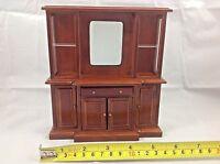 Dollhouse Miniature Furniture Wood Living Room Mirror Drawer Shelf Cabinet 1:12