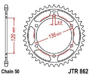 JT Sprockets Acero Posterior Piñón 46T 530 Tono JTR862.46