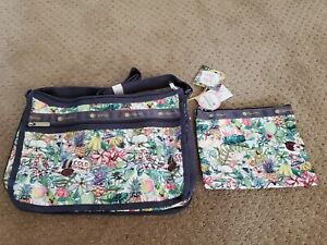 NWT Aloha market Lesportsac Hawaii Deluxe Everyday bag Crossbody rare aloha