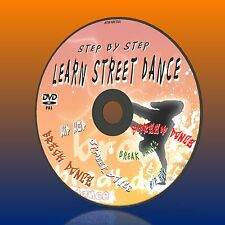 LEARN 2 STREET DANCE/ BREAKDANCE/HIP HOP STEP BY STEP BEGINNERS GUIDE DVD NEW