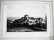 Anstein Schloß Neu Eichenberg  alter Stahlstich 1844