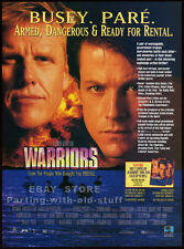 WARRIORS__Original 1994 Trade Print AD movie promo__GARY BUSEY__MICHAEL PARE
