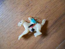 New listing Old Vintage Mini Little Small Tiny Charm Pendant Equestrian Jockey Horse Racing