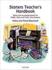 Starters Teacher's Handbook Notes Accompaniments Fiddle Viola Cello Book
