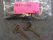 Set of 2 key blank uncut blade Toyota TR37 X159  32, TOYO-13, TY38, TOY28, TO4,