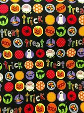Bewitch Trick or Treat Halloween Fabric Ghost Cotton Timeless Treasures BTY BTHY