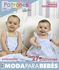 SEWING Patterns MAGAZINE BOOK baby girl boy newborn spanish kids clothing style