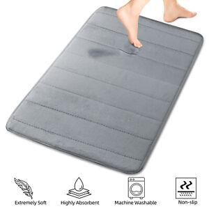 Absorbent Memory Foam Bath Mat Non-slip Bathroom Floor Shower Carpet Soft Rug