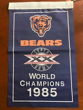 "Chicago Bears NFL 1985 Super Bowl Champions Banner 18.5"" x 12"" XX"