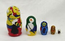 5 pcs. Russian Nesting Doll Hand Painted after JOAN MIRO #3674