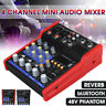 4 Channel Professional Line Mixing Live Audio Studio Sound Mixer Console 48V ⁂