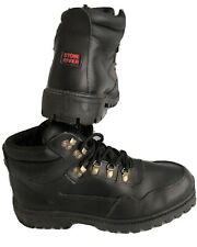 New listing STONE RIVER Cushioned Black Leather Walking Hiking Outdoor Boots Size 9 BNWOB