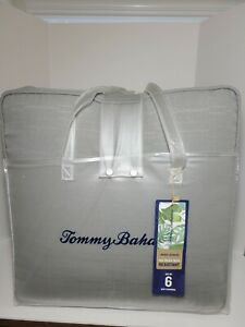 """Tommy Bahama Seat Cushions Chair Cushions 18""""x 18"""" Gray Water Resistant Set of 6"""