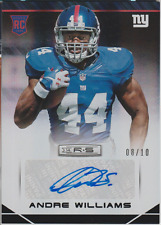 Andre Williams 2014 Panini Rookies & Stars RC auto autograph card 106 /10