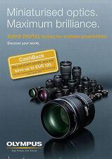 Prospectus Olympus zuiko Digital Lenses 9/08 2008 affiches prospectus objective multili