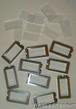 Lego WINDOW FRAME 1X2X3, DARK TAN, with Clear Glass, 60593 Lot of 10, New