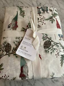 NEW Pottery Barn FOREST GNOME Organic Cotton Cal King  Sheet Set New with Tag