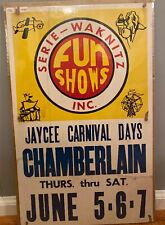 Vintage Carnival Poster, 1975 Serie Waknitz, Jaycee Days, Chamberlain