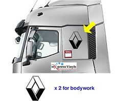 Renault truck decals x 2. logo badge body graphics stickers ANY COLOUR!!!