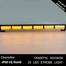 24 LED Emergency Beacon Warning Traffic Advisor Strobe Light Bar Amber&Yellow