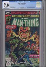 Man Thing V2 #4 CGC 9.6 1980 Marvel Comic: New Frame: