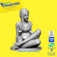 50mm Naught Girl With Baby Bear Figure Resin Model Kits Unpainted YUFAN Model