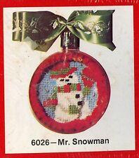 Mr Snowman  - Kristy Christmas Needlepoint Ornament Kit - New in Box