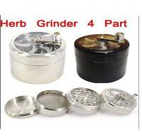 4 Parte Hierbas Molino Molinillo Magnético Metal Diamante Dientes Rizla