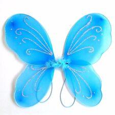 Blue Kids Girls Angel Fairy Butterfly Halloween Fancy Dress Costume