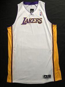 Adidas LA Lakers Blank White ClimaCool Jersey Men 5XL Length +4