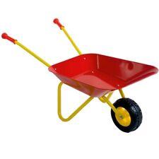 Kinderschubkarre Metall Schubkarre für Kinder Farbe: rot-gelb