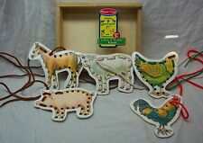 Melissa & Doug LACE AND TRACE FARM 5 Wooden Panels with Laces