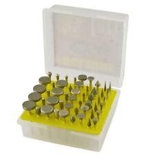 50pc Diamond Burr Set 120 Grit Carving Engraving Rotary Etching 18 Shank Te886