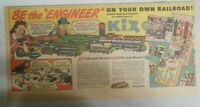 Kix Cereal Ad: Scale Model Railroad Trains ! from 1940's from 7.5 x 15 inches