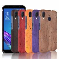 Wood Grain PU Leather Case Phone Bage Cover For Asus Zenfone Max (M1) ZB555KL