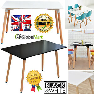 Rectangle Dining Table Dinning Office Home Kitchen Living Room Retro Style UK