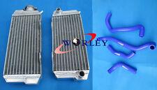 Aluminum radiator + hose for HONDA ATC250R ATC 250R 85 86 1985 1986 BLUE