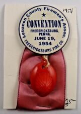 1954 Lebanon County Firemen's Assn. Convention Fredericksburg Fire Co Pin Badge