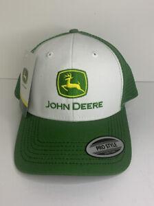 Authentic John Deere Green & White Mesh Snap Back Hat - Brand New From Moline