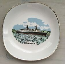 Squire Queen Elizabeth 2 Souvenir China Pin Dish