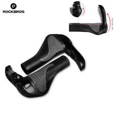 RockBros MTB Folding Bike Handlebar Rubber Grip Black Gray Aluminum Barend Black